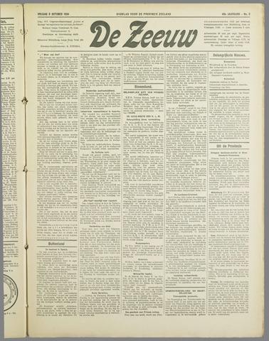De Zeeuw. Christelijk-historisch nieuwsblad voor Zeeland 1934-10-05