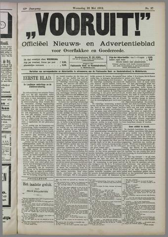 """""""Vooruit!""""Officieel Nieuws- en Advertentieblad voor Overflakkee en Goedereede 1912-05-22"""
