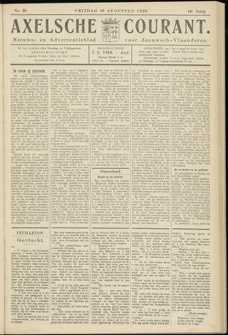 Axelsche Courant 1928-08-10
