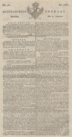 Middelburgsche Courant 1761-08-15