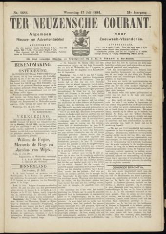Ter Neuzensche Courant. Algemeen Nieuws- en Advertentieblad voor Zeeuwsch-Vlaanderen / Neuzensche Courant ... (idem) / (Algemeen) nieuws en advertentieblad voor Zeeuwsch-Vlaanderen 1881-07-13