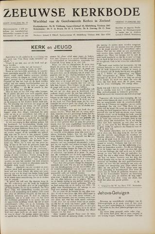 Zeeuwsche kerkbode, weekblad gewijd aan de belangen der gereformeerde kerken/ Zeeuwsch kerkblad 1951-01-19