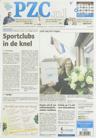 Provinciale Zeeuwse Courant 2009-12-12