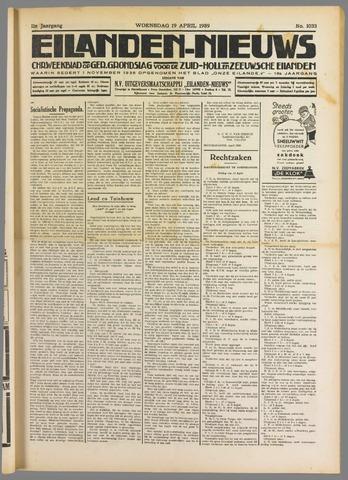 Eilanden-nieuws. Christelijk streekblad op gereformeerde grondslag 1939-04-19