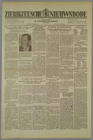 Zierikzeesche Nieuwsbode 1952-02-02