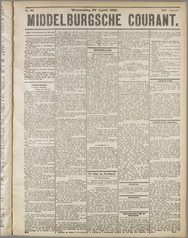 Middelburgsche Courant 1921-04-27