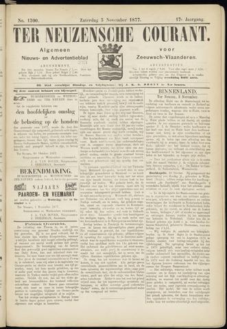 Ter Neuzensche Courant. Algemeen Nieuws- en Advertentieblad voor Zeeuwsch-Vlaanderen / Neuzensche Courant ... (idem) / (Algemeen) nieuws en advertentieblad voor Zeeuwsch-Vlaanderen 1877-11-03