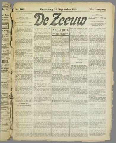 De Zeeuw. Christelijk-historisch nieuwsblad voor Zeeland 1921-09-29