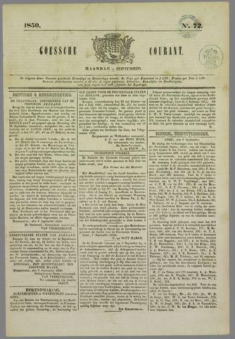 Goessche Courant 1850-09-09