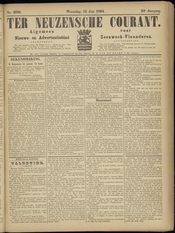 Ter Neuzensche Courant. Algemeen Nieuws- en Advertentieblad voor Zeeuwsch-Vlaanderen / Neuzensche Courant ... (idem) / (Algemeen) nieuws en advertentieblad voor Zeeuwsch-Vlaanderen 1894-06-13