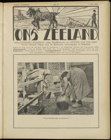 Ons Zeeland / Zeeuwsche editie 1929-05-04