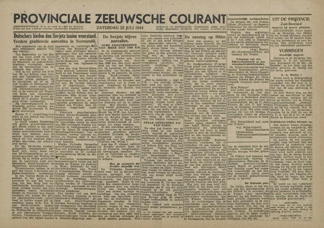Provinciale Zeeuwse Courant 1944-07-22