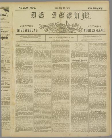 De Zeeuw. Christelijk-historisch nieuwsblad voor Zeeland 1906-06-08