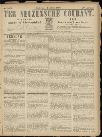 Ter Neuzensche Courant. Algemeen Nieuws- en Advertentieblad voor Zeeuwsch-Vlaanderen / Neuzensche Courant ... (idem) / (Algemeen) nieuws en advertentieblad voor Zeeuwsch-Vlaanderen 1899-10-12