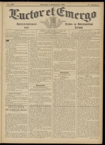 Luctor et Emergo. Antirevolutionair nieuws- en advertentieblad voor Zeeland / Zeeuwsch-Vlaanderen. Orgaan ter verspreiding van de christelijke beginselen in Zeeuwsch-Vlaanderen 1915-09-11