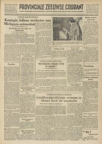 Provinciale Zeeuwse Courant 1952-04-18