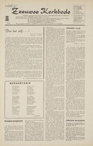 Zeeuwsche kerkbode, weekblad gewijd aan de belangen der gereformeerde kerken/ Zeeuwsch kerkblad 1968-12-12