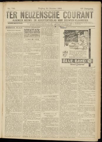 Ter Neuzensche Courant. Algemeen Nieuws- en Advertentieblad voor Zeeuwsch-Vlaanderen / Neuzensche Courant ... (idem) / (Algemeen) nieuws en advertentieblad voor Zeeuwsch-Vlaanderen 1926-10-22
