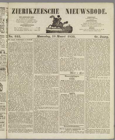 Zierikzeesche Nieuwsbode 1850-03-18