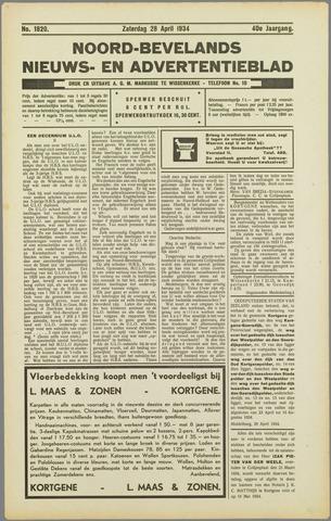 Noord-Bevelands Nieuws- en advertentieblad 1934-04-28