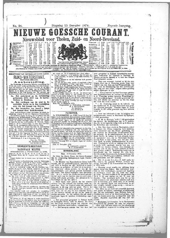 Nieuwe Goessche Courant 1874-12-15