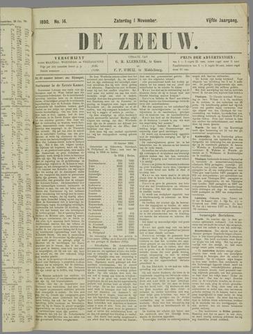 De Zeeuw. Christelijk-historisch nieuwsblad voor Zeeland 1890-11-01