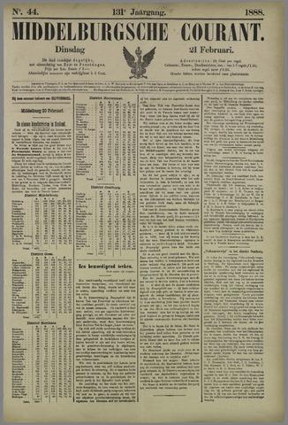 Middelburgsche Courant 1888-02-21