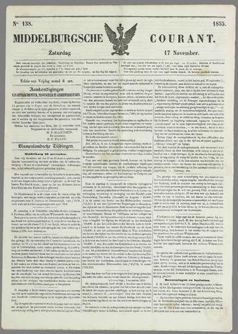Middelburgsche Courant 1855-11-17