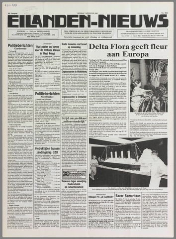 Eilanden-nieuws. Christelijk streekblad op gereformeerde grondslag 1989-08-01
