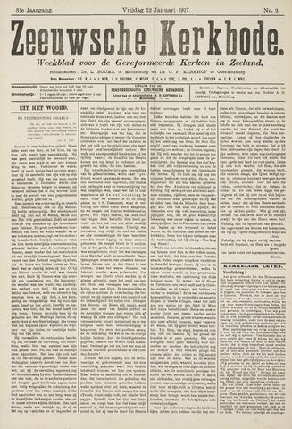 Zeeuwsche kerkbode, weekblad gewijd aan de belangen der gereformeerde kerken/ Zeeuwsch kerkblad 1917-01-12
