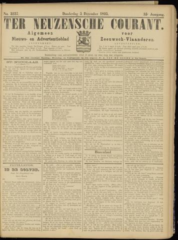 Ter Neuzensche Courant. Algemeen Nieuws- en Advertentieblad voor Zeeuwsch-Vlaanderen / Neuzensche Courant ... (idem) / (Algemeen) nieuws en advertentieblad voor Zeeuwsch-Vlaanderen 1895-12-05