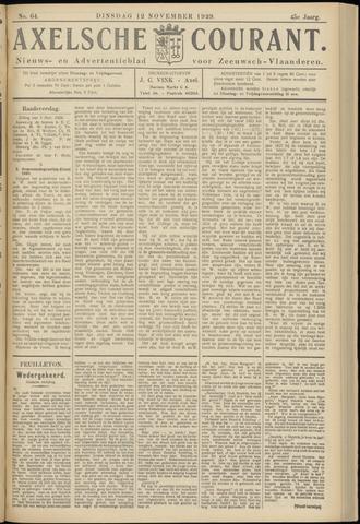 Axelsche Courant 1929-11-12