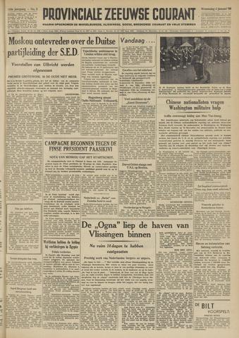Provinciale Zeeuwse Courant 1950-01-04