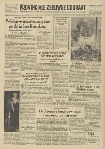 Provinciale Zeeuwse Courant 1954-07-28