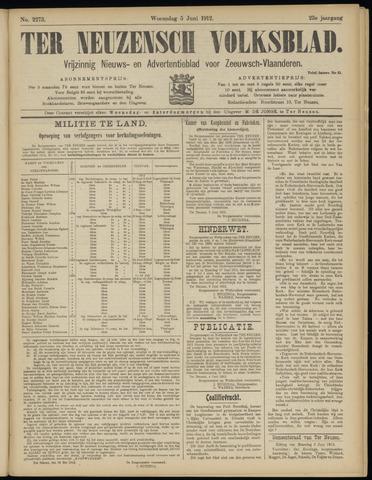 Ter Neuzensch Volksblad. Vrijzinnig nieuws- en advertentieblad voor Zeeuwsch- Vlaanderen / Zeeuwsch Nieuwsblad. Nieuws- en advertentieblad voor Zeeland 1912-06-05