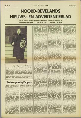 Noord-Bevelands Nieuws- en advertentieblad 1955-08-27