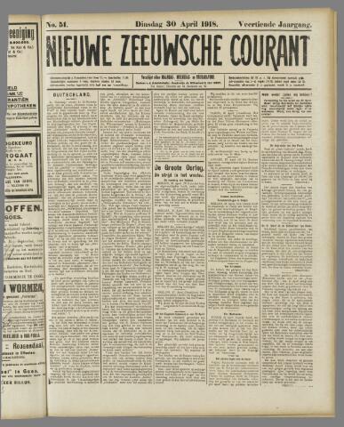 Nieuwe Zeeuwsche Courant 1918-04-30