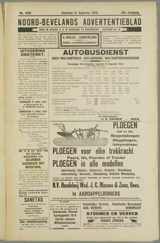 Noord-Bevelands Nieuws- en advertentieblad 1929-08-10