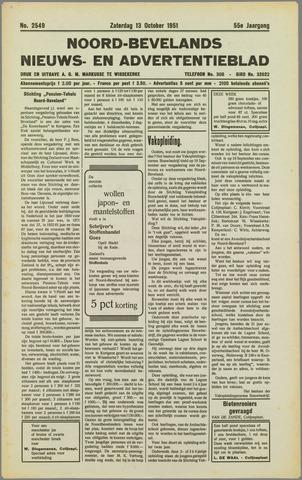 Noord-Bevelands Nieuws- en advertentieblad 1951-10-13