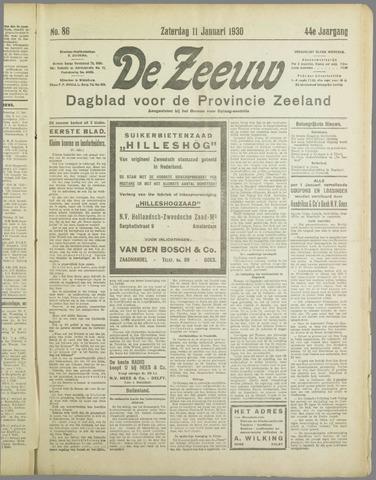 De Zeeuw. Christelijk-historisch nieuwsblad voor Zeeland 1930-01-11