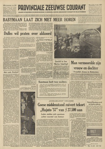 Provinciale Zeeuwse Courant 1957-10-09
