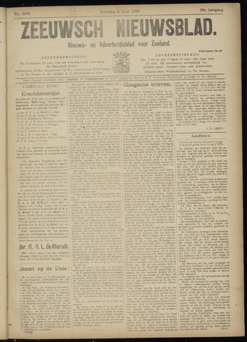 Ter Neuzensch Volksblad. Vrijzinnig nieuws- en advertentieblad voor Zeeuwsch- Vlaanderen / Zeeuwsch Nieuwsblad. Nieuws- en advertentieblad voor Zeeland 1918-06-08
