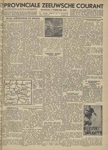 Provinciale Zeeuwse Courant 1944-02-07