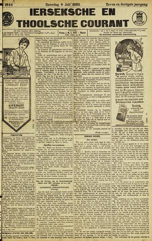 Ierseksche en Thoolsche Courant 1922-07-08
