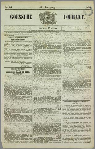 Goessche Courant 1856-07-28