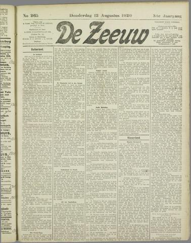 De Zeeuw. Christelijk-historisch nieuwsblad voor Zeeland 1920-08-12