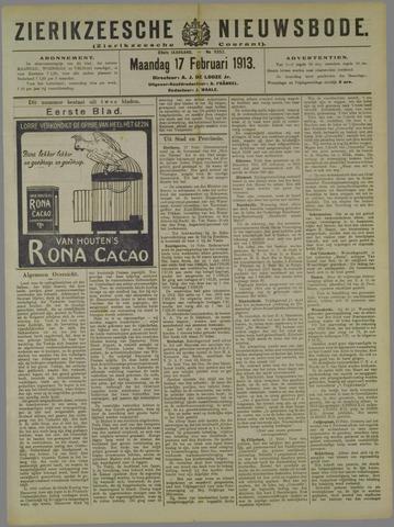 Zierikzeesche Nieuwsbode 1913-02-17