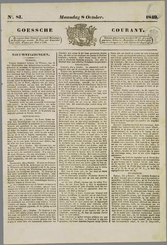 Goessche Courant 1849-10-08