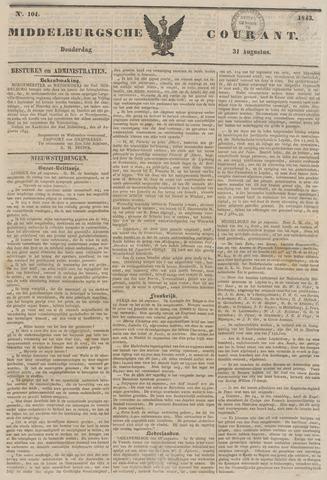 Middelburgsche Courant 1843-08-31