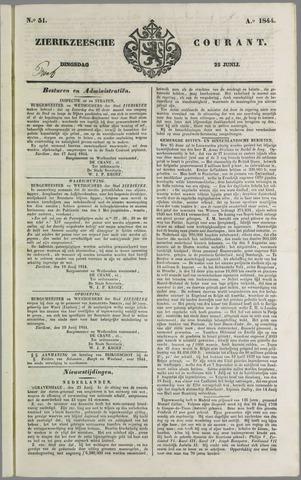 Zierikzeesche Courant 1844-06-25